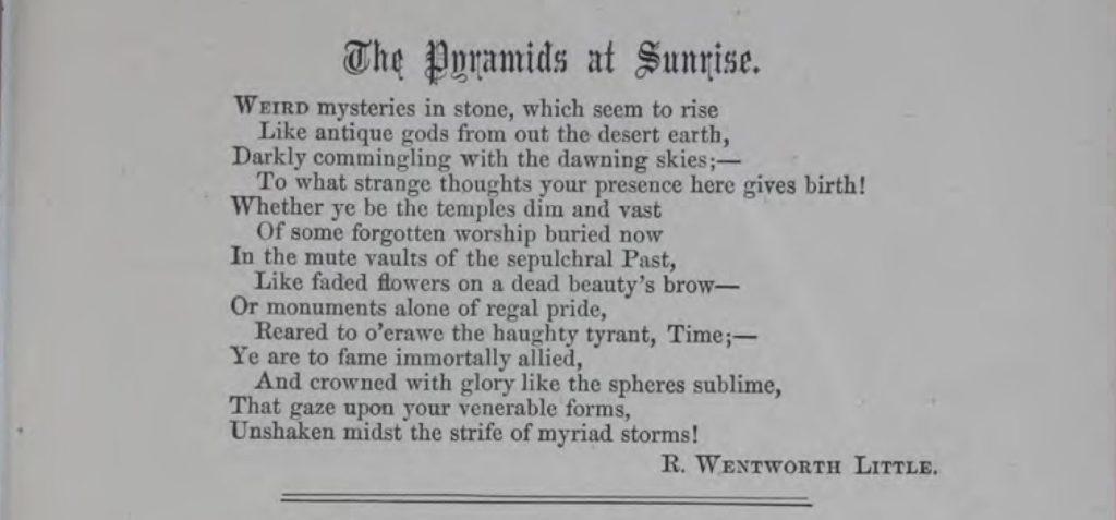 The Rosicrucian - July 1868 - Little Poem