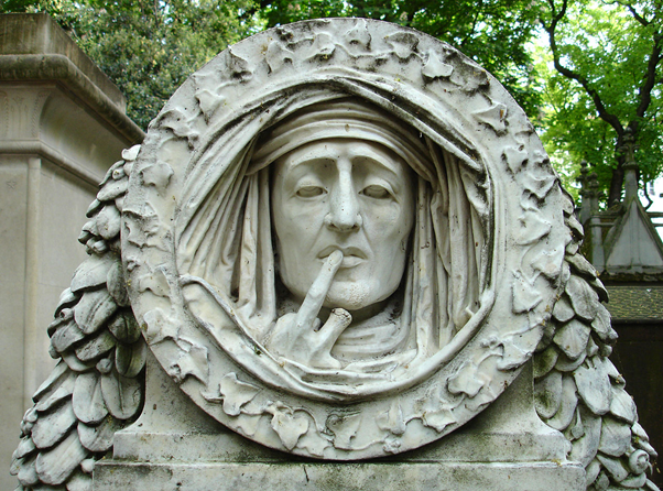 Tomb of Jacob Robles, Pere Lachaise cemetary in Paris.